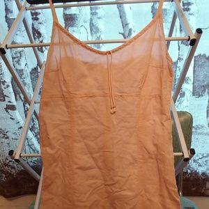 Pink Linen H&M Slip Dress Cute 14
